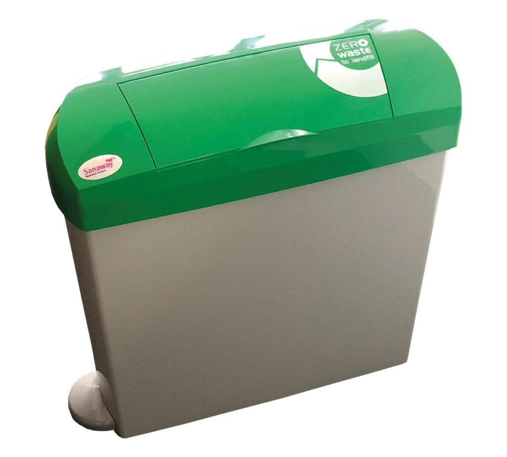 grey green feminine bin